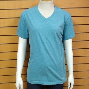 """J. Crew Small """"Broke In"""" Turquoise V Neck T-shirt"""